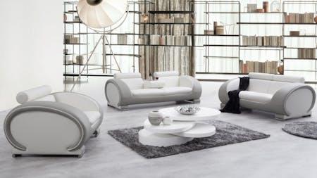 Carmel Leather Sofa Suite 3 + 2 + 1