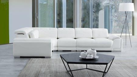 Bronte Leather Corner Lounge Option F