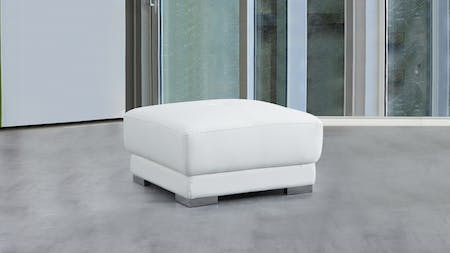 Bronte Leather Ottoman 75x75x45