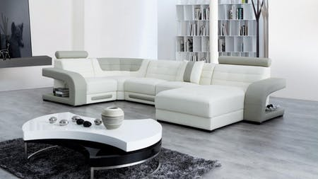 Casanova Leather Modular Lounge Option C