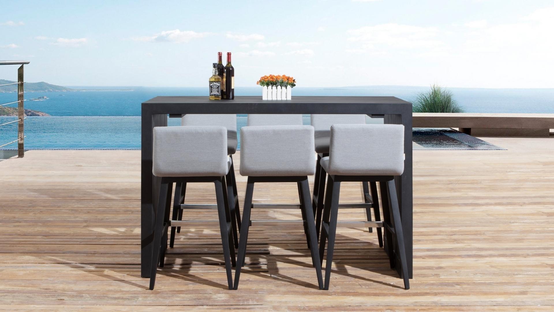 Kroes 7 Piece Outdoor Aluminium Bar Set Lavita Furniture