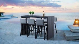 Kroes 7-Piece Outdoor Aluminium Bar Set