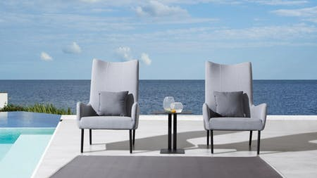 Nova Outdoor Fabric Lounge Chair - Set of Two
