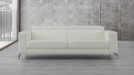 Club Leather Three Seat Sofa