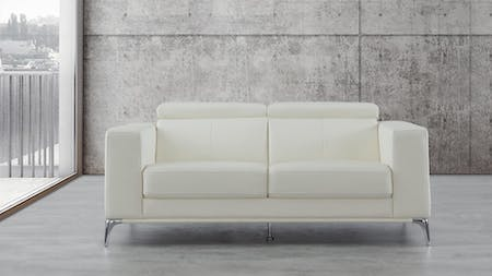 Club Leather Two Seat Sofa
