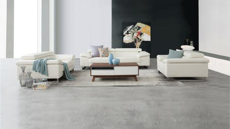 BOSTON Leather Sofa Suite 3 + 2 + 1