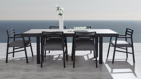 Invini 7-Piece Outdoor Ceramic Dining Set With Blaze Chairs