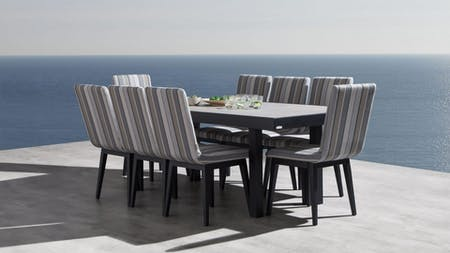 Invini 9-piece Outdoor Dining Set With Kroes Chairs