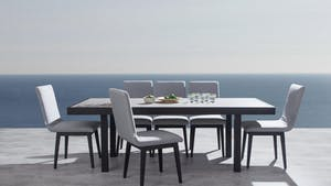 Invini 7-Piece Outdoor Ceramic Dining Set With Kroes Chairs