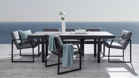 Invini 7-Piece Outdoor Ceramic Dining Set