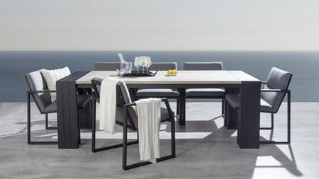 Hadid 7-piece Outdoor Dining Set With Invini Chairs