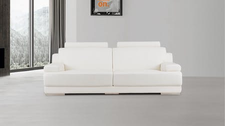 Romeo Leather Three Seat Sofa