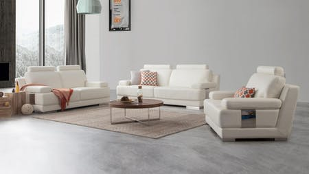 Romeo Leather Sofa Suite 3 + 2 + 1