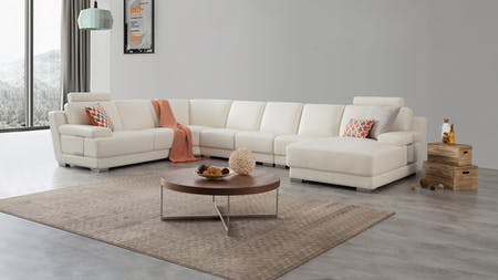 Romeo Leather Modular Lounge Option B