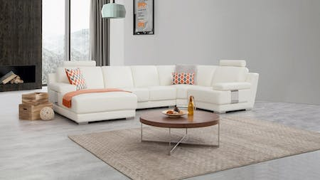 Romeo Leather Modular Lounge Option C