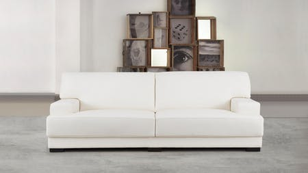 Volante Leather Three Seat Sofa