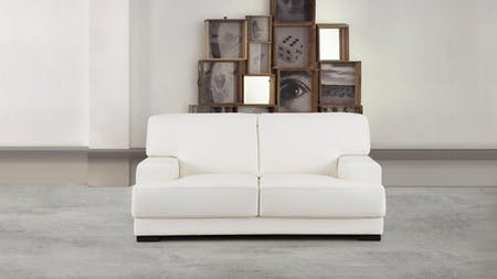 Volante Leather Two Seat Sofa