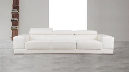Napoleon Leather Three Seat Sofa