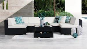Moda Seven Ways Wicker Outdoor Lounge System