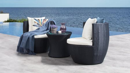 Piccolo Outdoor Wicker Balcony Suite