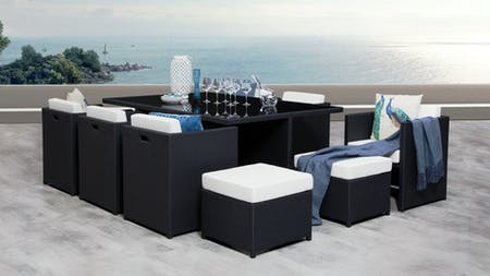 Vacanza Outdoor Cube Dining Set