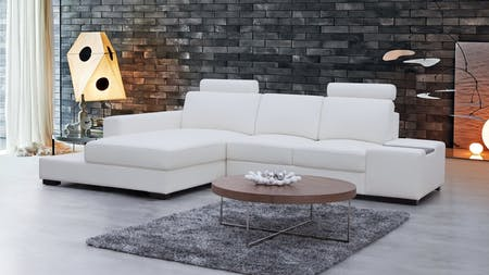 Hollywood Leather Chaise Lounge Option A