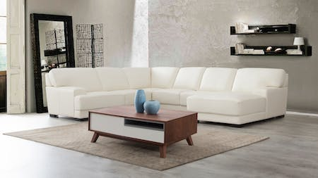 Volante Leather Modular Lounge Option A