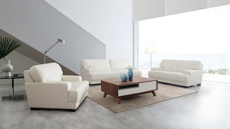 Volante Leather Sofa Suite 3 + 2 + 1