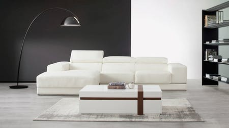 Napoleon Leather Chaise Lounge Option A