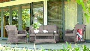 Atlantis Outdoor Wicker Sofa Suite With Coffee Table