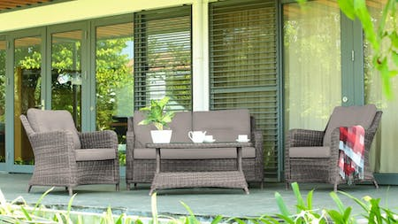 Atlantis Outdoor Wicker Sofa Suite With Coffee Table