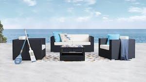 Moda Outdoor Wicker Sofa Suite 2 + 1 + 1