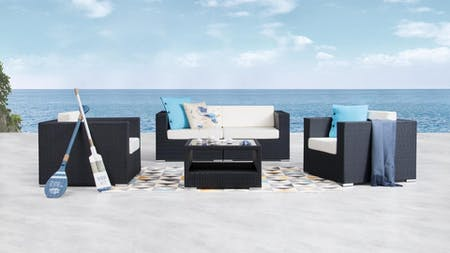 Moda Outdoor Wicker Sofa Suite 2 + 1 + 1