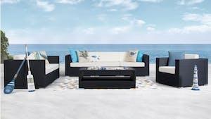 Moda Outdoor Wicker Sofa Suite 3 + 2 + 1