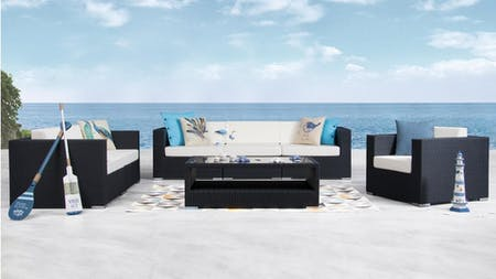 Moda Outdoor Wicker Sofa Suite 3 + 2 + 1