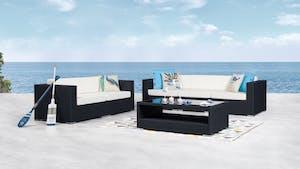 Moda Outdoor Wicker Sofa Suite 3 + 2