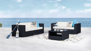Moda Outdoor Wicker Sofa Suite 2 + 2