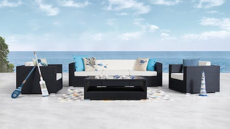 Moda Outdoor Wicker Sofa Suite 3 + 1 + 1