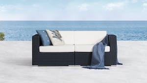 Moda Outdoor Wicker Two Seater Sofa