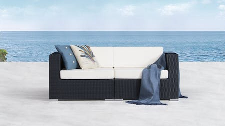Moda Outdoor Wicker Two Seater Sofa