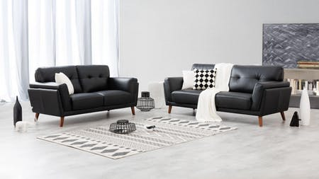 HENRY Leather Sofa Suite 3 + 2