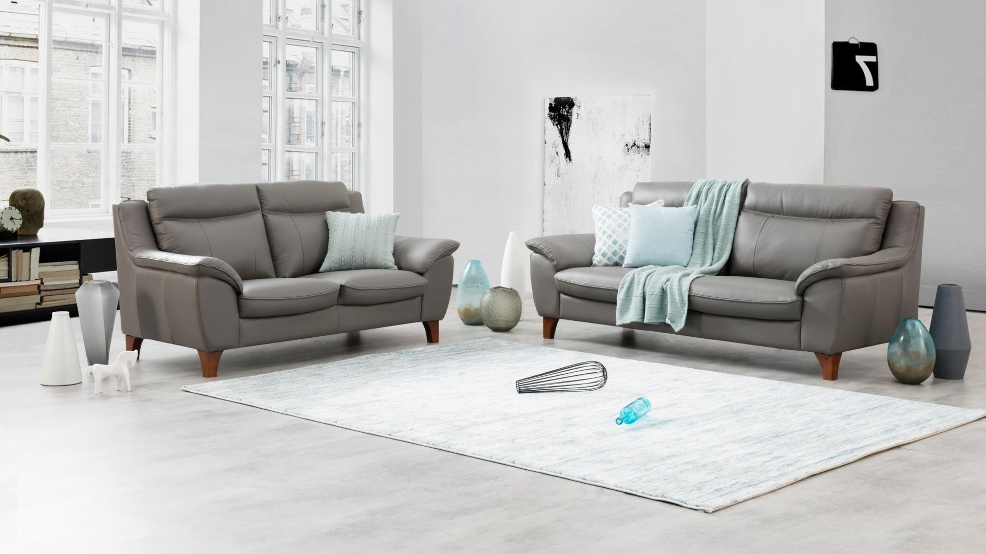 Charles Leather Sofa Suite 3 2 Lounge Life