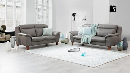 CHARLES Leather Sofa Suite 3 + 2