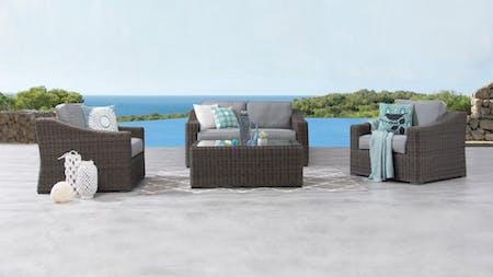 Canyon Outdoor Wicker Sofa Suite 2 + 1 + 1