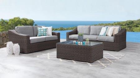 Canyon Outdoor Wicker Sofa Suite 3 + 2