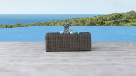 Canyon Outdoor Wicker Rectangular Coffee Table
