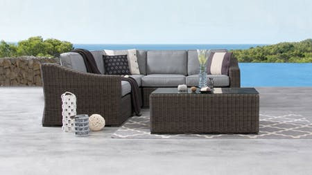 Canyon Outdoor Wicker Corner Lounge