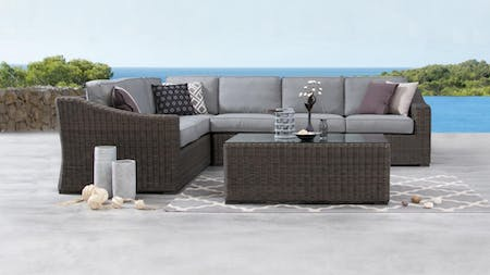 Canyon Outdoor Wicker L Shape Lounge