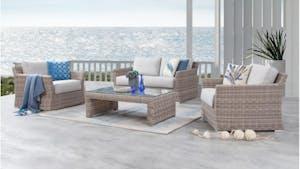 Savannah Outdoor Wicker Sofa Suite 2 + 1 + 1