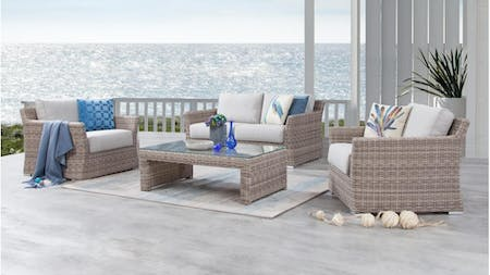 Savannah Outdoor Wicker Sofa Suite 2 + 1 + 1